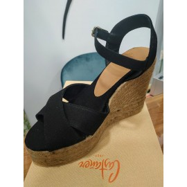 Blaudell Espadrille with wedge made of canvas 11cm by Castaner