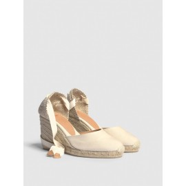 Espadrille with wedge Carina made in canvas 9 cm