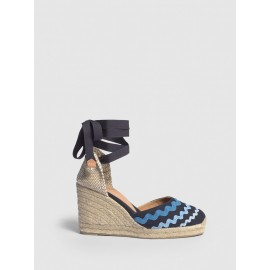 Craby, Castaner espadrille with wedge made of canvas 9cm