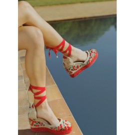 Castaner espadrille with wedge made in canvas 11 cm