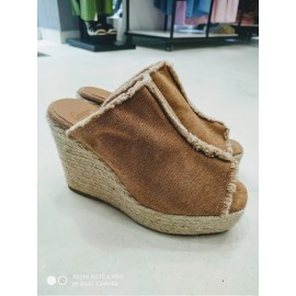 FATIMA espadrille with wedge made of canvas 11cm by Castaner