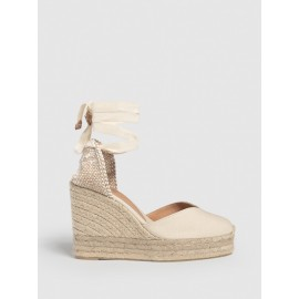 Chiara. Espadrille with wedge made of canvas 11cm